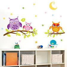 new night owl creative infantile wall art bird animal home