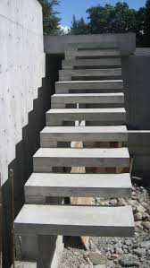detail u2013 cantilevered stair home building in vancouver