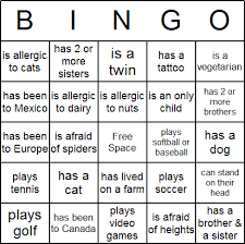 Dinner Party Question Games - icebreaker bingo card free printable can also change this to