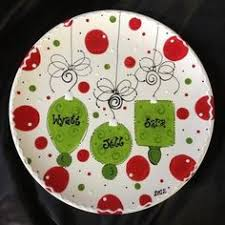 painted platters personalized kate spade inspired diy plate dollar store plate