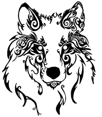 tribal wolf by silent howl on deviantart