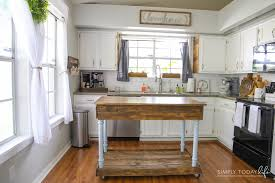 how to make a kitchen island with seating diy kitchen island from desk farmhouse style