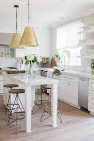 white kitchen island with stools 15 cool kitchen islands with zones shelterness
