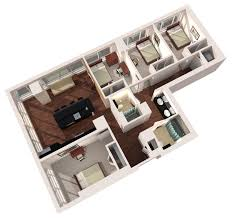 4 bedroom apartment floor plans 4 bedroom 2 bath