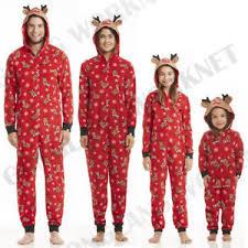 family matching pajamas set deer sleepwear