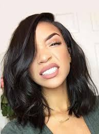 wigs medium length feathered hairstyles 2015 charming mid length loose wavy lace front human hair wig 14 inches