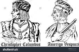 christopher columbus amerigo vespucci great discoveries stock