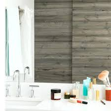 bathroom wall panels that look like tiles get a cottage with