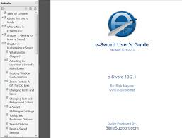E Sword User U0027s Guide Pdf V 10 4 Bible Support