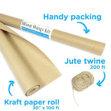 kraft paper wrapping paper 30 x1200 and rope 2400
