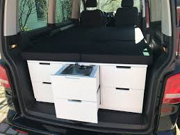 volkswagen caravelle trunk wv camper ideas campervan interior vw caddy tramper vans and