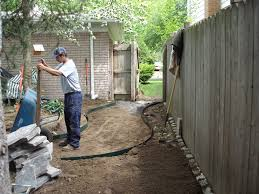 Flagstone Walkway Design Ideas by Exterior Design Make Flagstone Walkway To Gate With Wood Fence