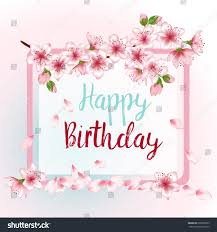 happy birthday greeting card template rectangular stock vector