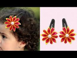 flower accessories how to make diy satin flower hair easy hair