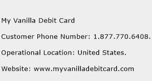 www my vanilla debit card my vanilla debit card customer service phone number contact