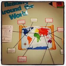 reading around the world bulletin board idea myclassroomideas