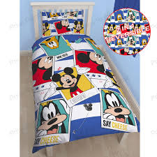 Mickey Mouse King Size Duvet Cover Disney Mickey Or Minnie Mouse Single Junior Duvet Cover Sets Kids