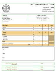 report card format template report card template lisamaurodesign