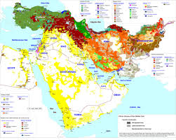 Islam World Map by Identity And Loyalty In Islam And The Middle East