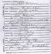 Slovak Birth Records Hungarian Genealogy It All Goes Back To The Catholic Church