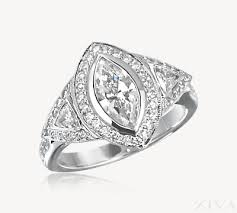 marquise diamond engagement ring diamond engagement ring with triangle sides in pave halos