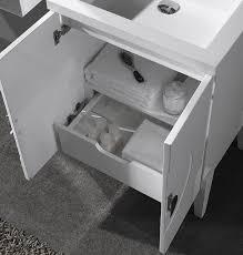 24 Bathroom Vanity With Drawers Buy Rotterdam 24 White Vanity Cabinet Set Wallandtile