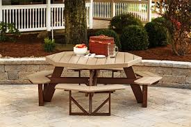 Red Cedar Octagon Walk In Picnic Table by Luxcraft Poly Octagon Picnic Table From Dutchcrafters Amish Furniture