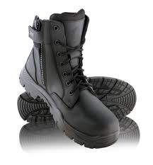 motorcycle boots australia steel blue enforcer zip sided lace up soft toe tactical response