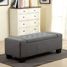 Storage Bench Fabric Hpk5668npf1399 Homepop Fabric Storage Bench Bedroom Ottoman Linen