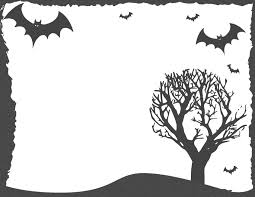 halloween frame bats tree page frames holiday halloween
