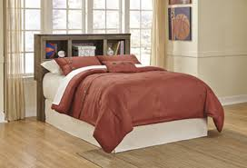 Bed With Bookshelf Headboard Ashley Trinell Bookcase Bed With Storage Mathis Brothers Furniture