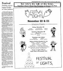 festival of lights lake jackson facts from clute texas on november 21 1996 page 23