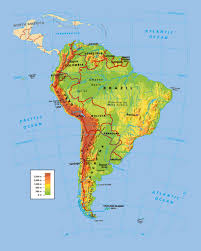 Central America Physical Map by Maps Of South America Map Library Maps Of The World