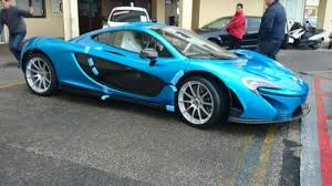 mclaren p1 custom paint job mclaren p1 with slr blue paint arrives to client in gibraltar