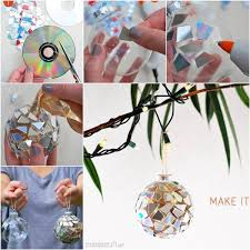 how to diy sparkling mosaic ornament from cd