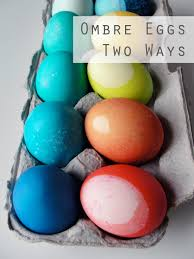 ombré easter eggs two ways the thrifty ginger