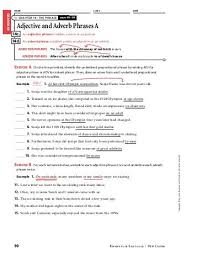 adjective and adverb phrases worksheets phoenixpayday com