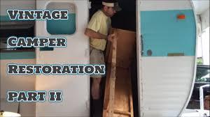 vintage yellowstone camper restoration project pt2 homestead