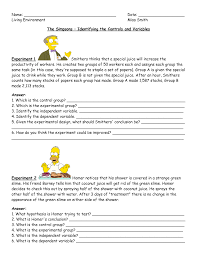 simpsons scientific method worksheet answers 28 templates