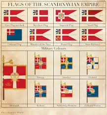 flags of the scandinavian empire by regicollis on deviantart