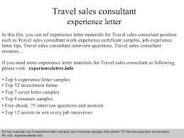 travel consultant cover letter no experience 476