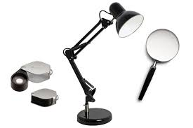 Desk Lamp With Magnifying Glass How To Look At Coins