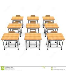 Student Desk Dimensions by Some School Desk Front View Stock Photography Image 31624132