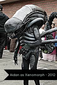 a handmade alien halloween costume for kids and adults really