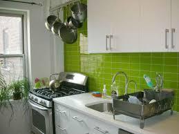 futuristic green kitchen walls with glossy panels and mini kitchen