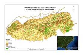 Smoky Mountain National Park Map Bug Off Woolly Adelgid Induced Hemlock Decline In The Great Smoky