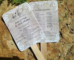 wedding programs rustic personalized wedding fans wedding fans for guests