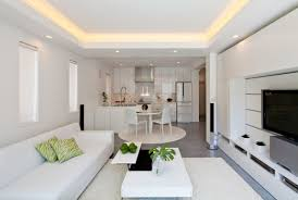 Living Dining And Kitchen Design by Living Room And Kitchen Seeking Balance And Tranquility Modern