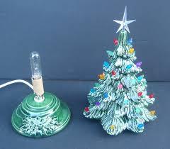 ceramic christmas tree with lights vintage style ceramic christmas tree tabletop tree made to order