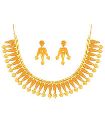 golden jewellery necklace images Anjali jewellers golden traditional necklace set buy anjali jpg